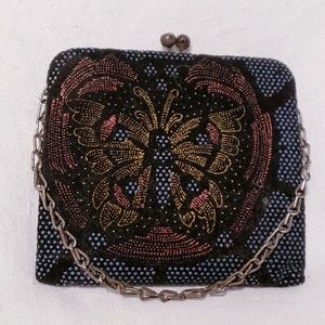 Handbags - Art Nouveau Beaded Butterfly Pochette